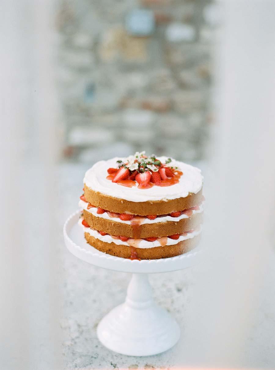 Erdbeer Naked Cake / Torte