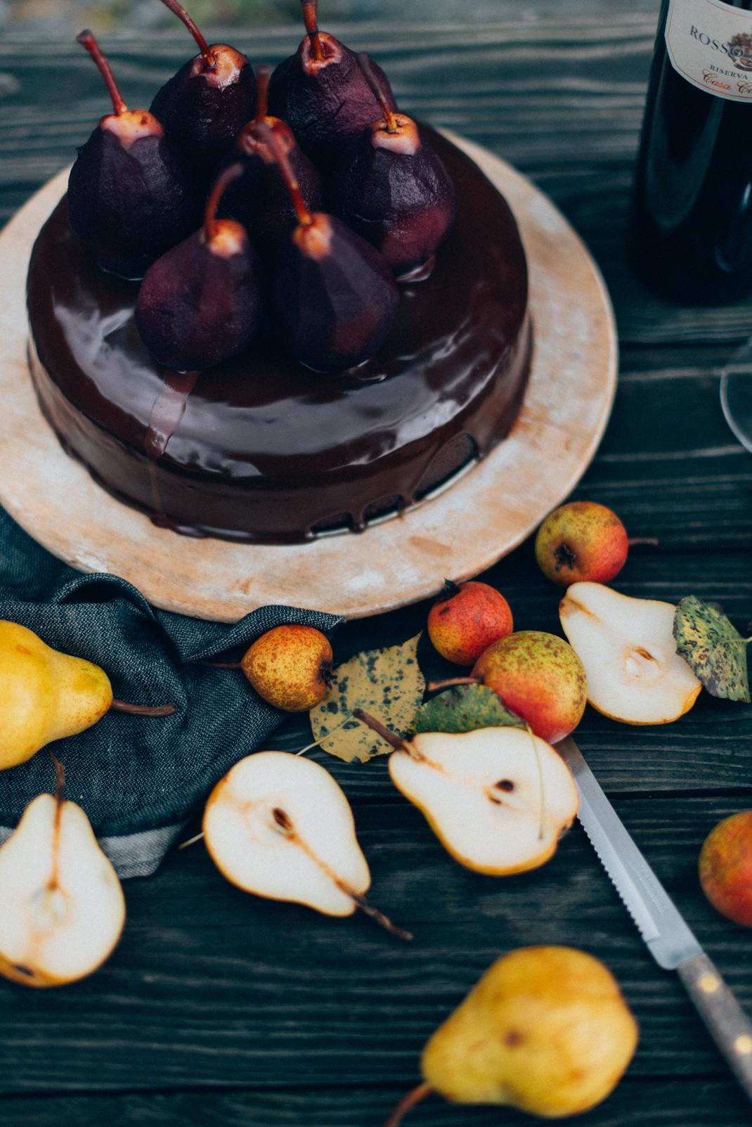 Schokolade Rotwein Kuchen von Silvia Fischer. Echte Kuchenliebe