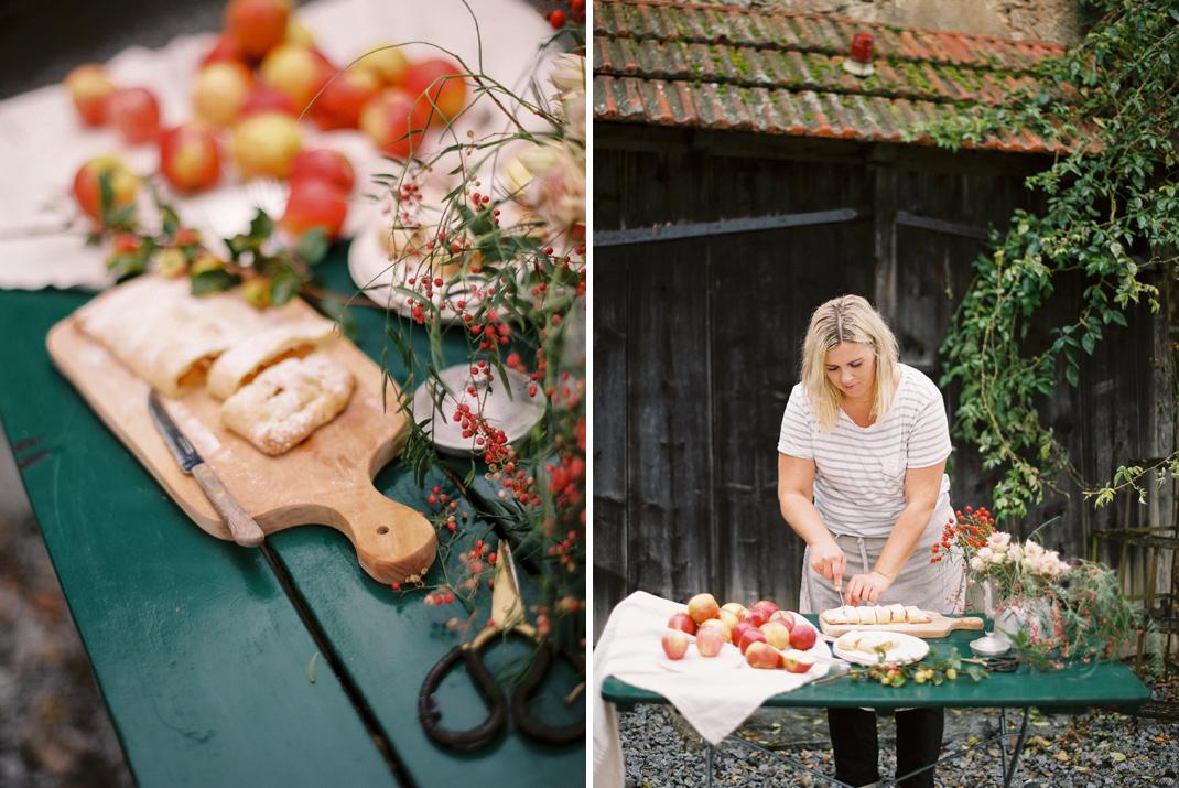 Silvia Fischer. Echte Kuchenliebe. Apfelschlangerl Rezept aus Backbuch