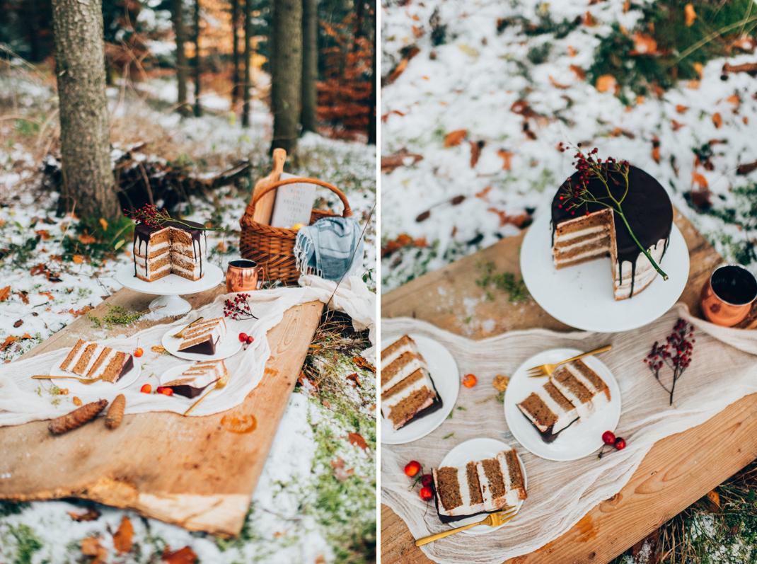 Silvia Fischer. echte kuchenliebe. Weihnachtsrezept Bratapfel Torte als Drip Cake