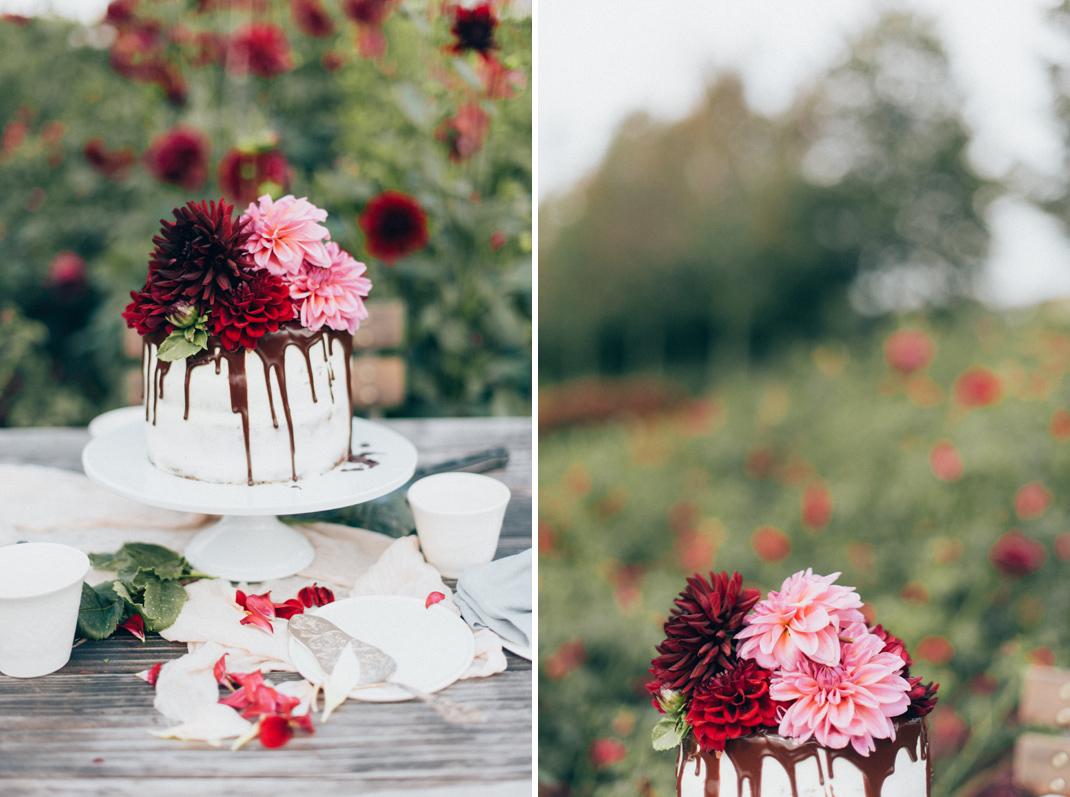 Silvia Fischer. Echte Kuchenliebe. Blumen Torte