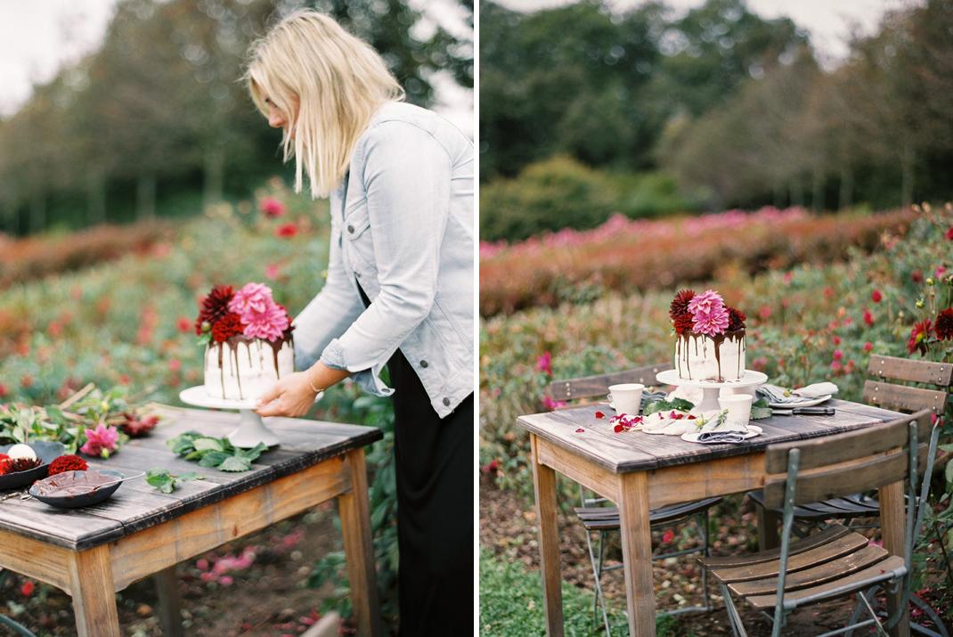 """Silvia Fischer. Echte Kuchenliebe. Tortentrend """"Drip Cake"""" mit frischen Blumen"""