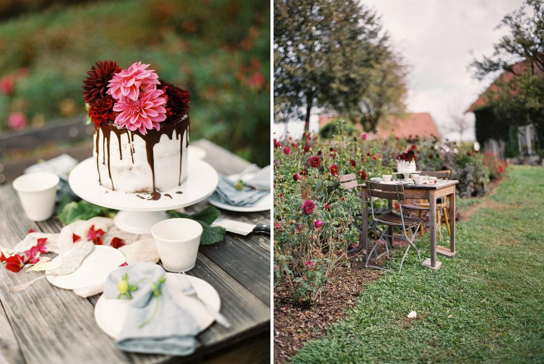 Silvia Fischer. Echte Kuchenliebe. Drip Cake mit frischen Blumen