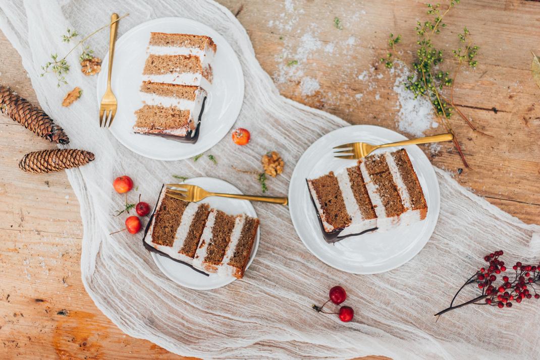 Silvia Fischer. echte kuchenliebe. Weihnachtsrezept Bratapfel Torte