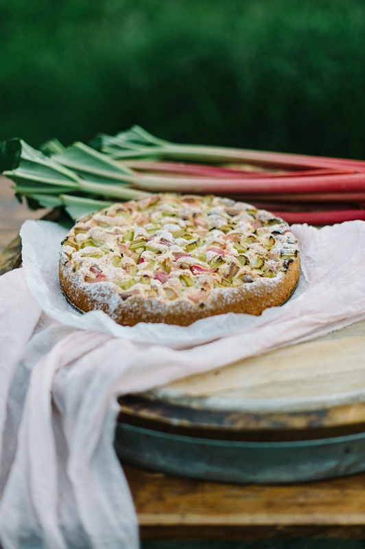 Rhabarberkuchen Rezept Silvia Fischer, echte Kuchenliebe