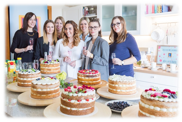 Naked Cakes Backkurs mit Silvia Fischer. Backen mit Hofer.