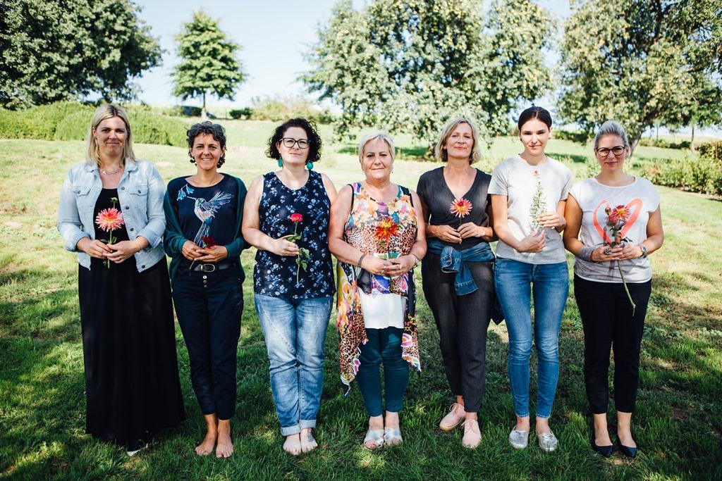 Teilnehmerinnen Businessbrunch 6.9.2018 im Garten der Geheimnisse